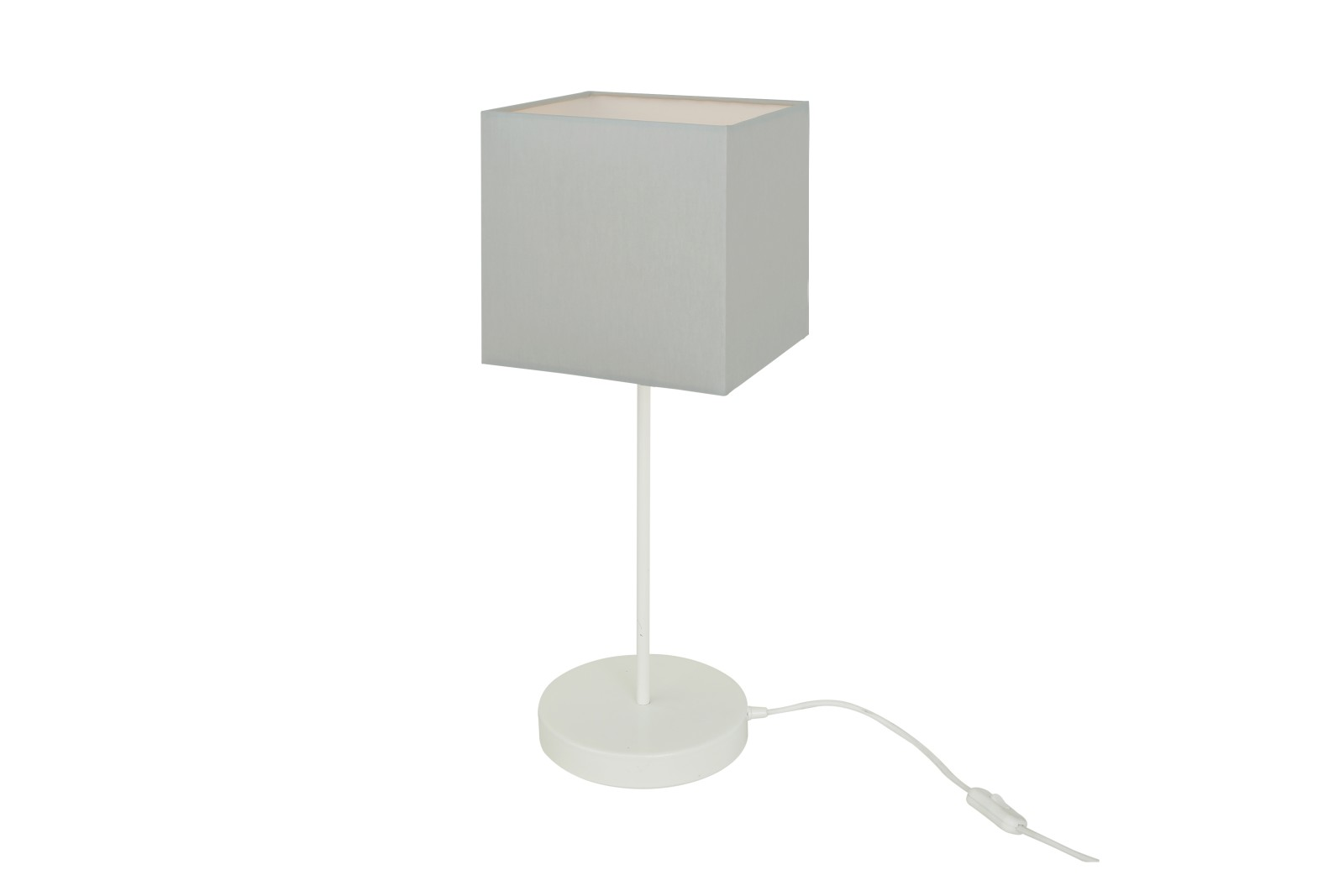 Bedal Table Lamp Powder Coated White, UK Plug