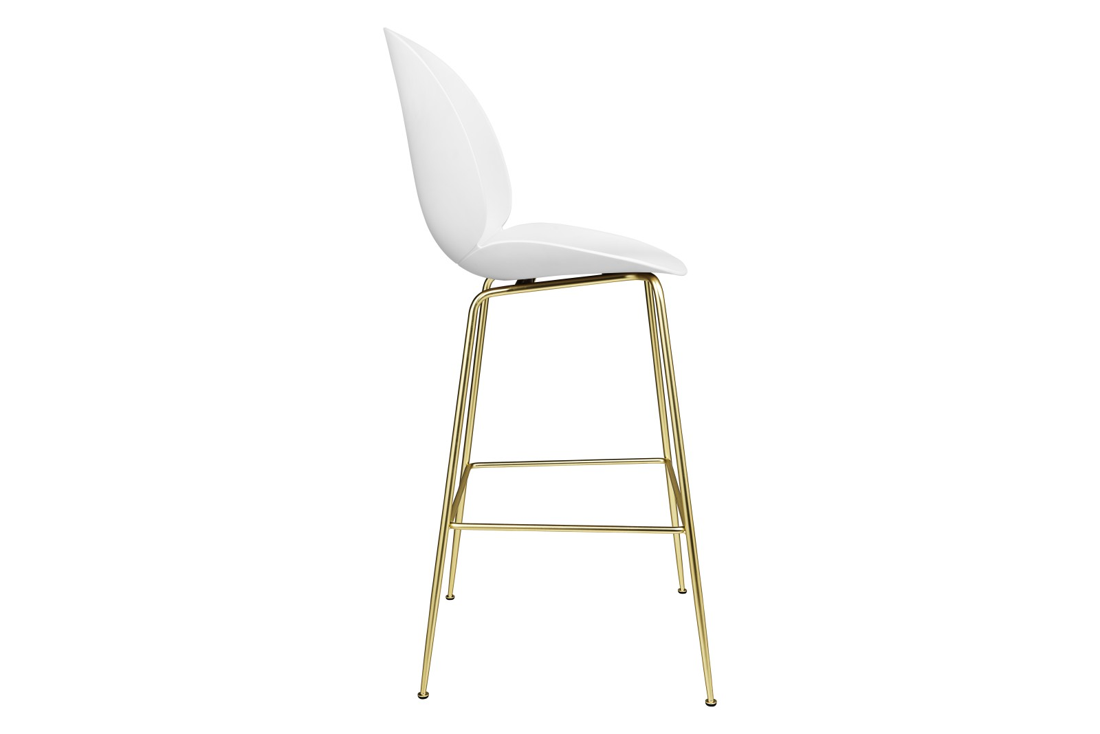 Beetle Bar Chair - Un-upholstered Conic base (Black Matt Base, Sweet Pink, Plastic Glides)