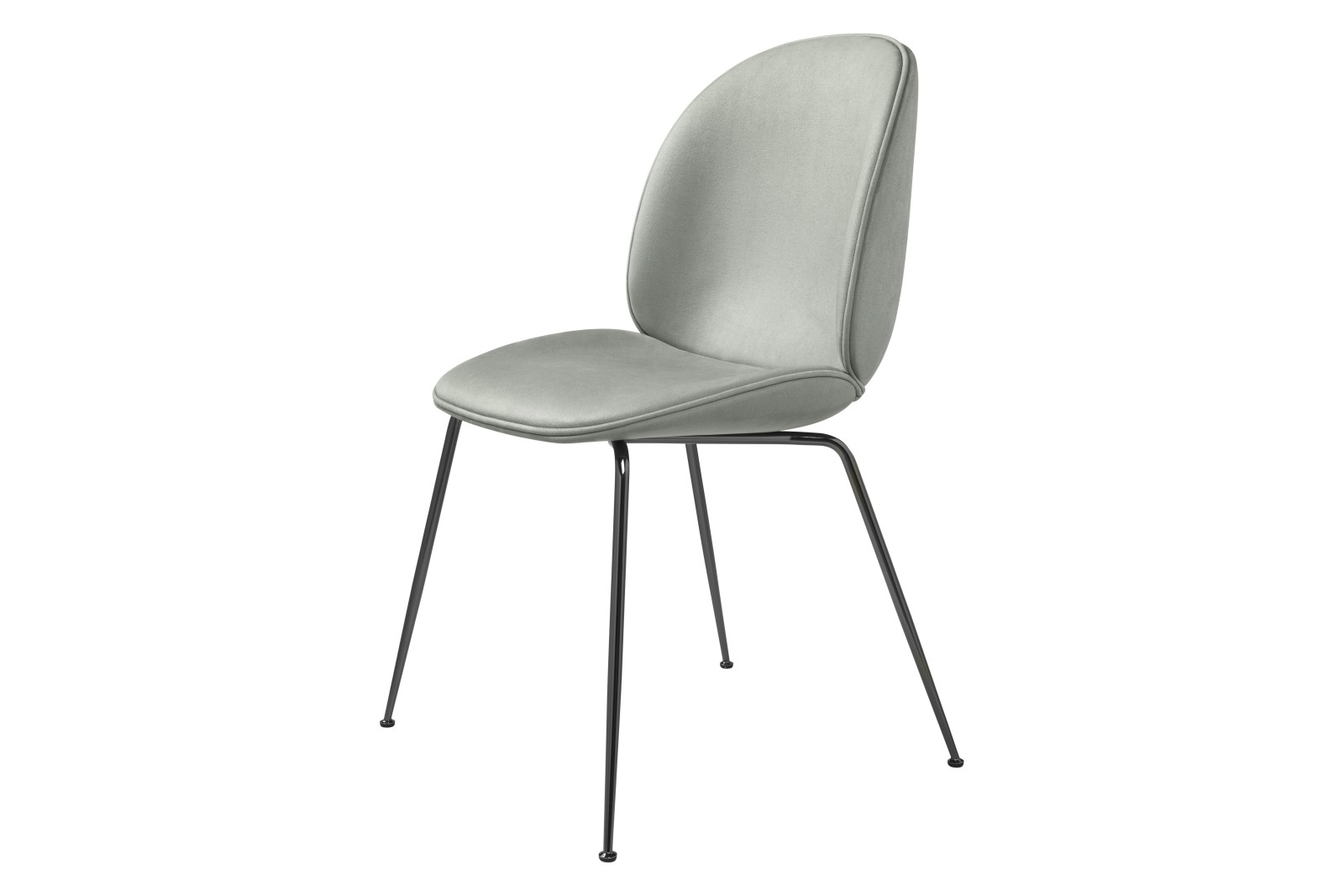 Beetle Dining Chair - Fully Upholstered, Conic base Gubi Metal Black Chrome, Price Grp. 04 CM8