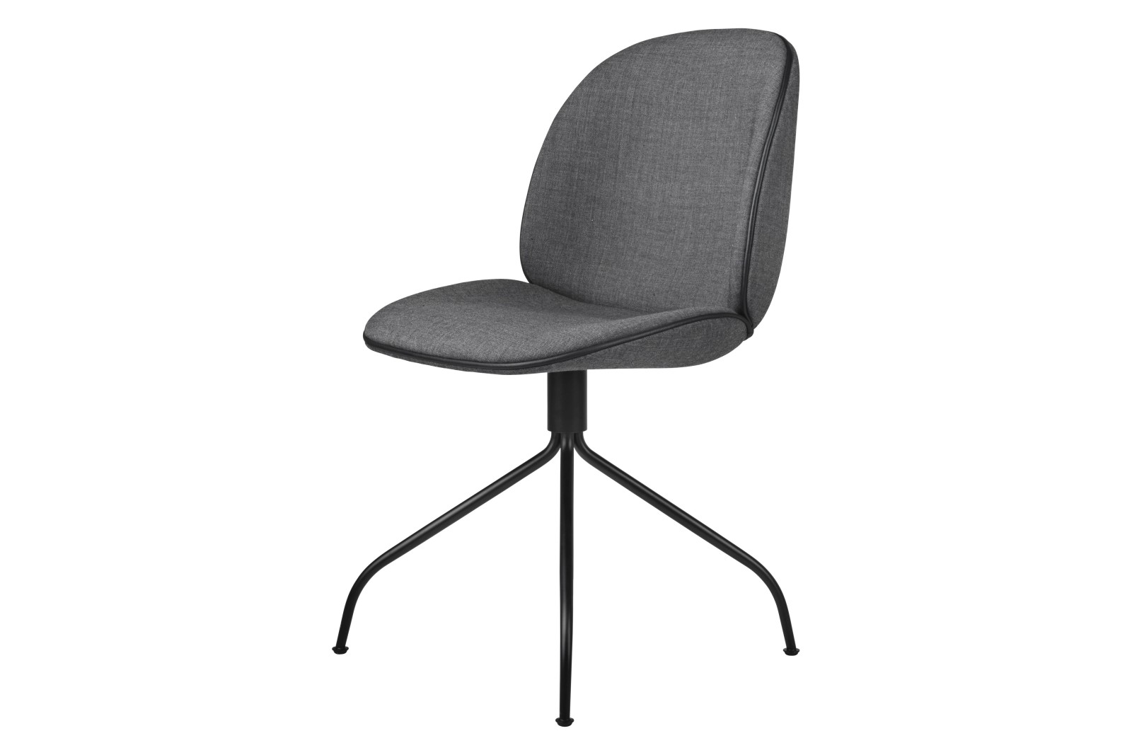 Beetle Meeting Chair - Fully Upholstered, Swivel base Gubi Metal Black Matt, Price Grp. 02