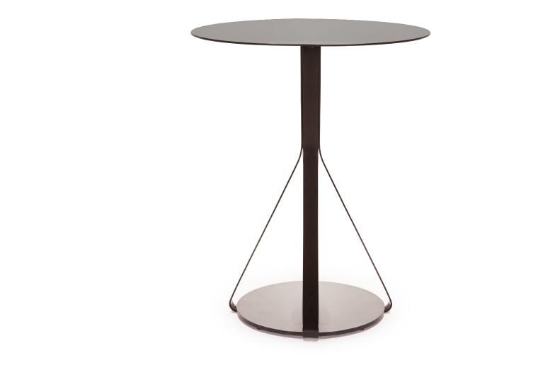 Berry Side Table Round - Set of 2 Light Grey, Iron Varnish, 40, 50
