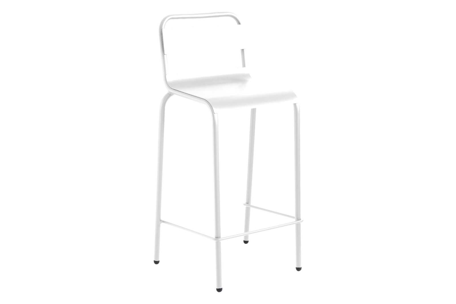 Biarritz Bar Stool Set of 3 RAL 9016 Ibiza White