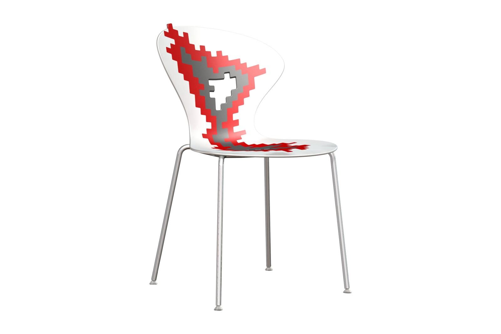 Big Bang Dining Chair Set of 8 00-06-04, Chromed Metal