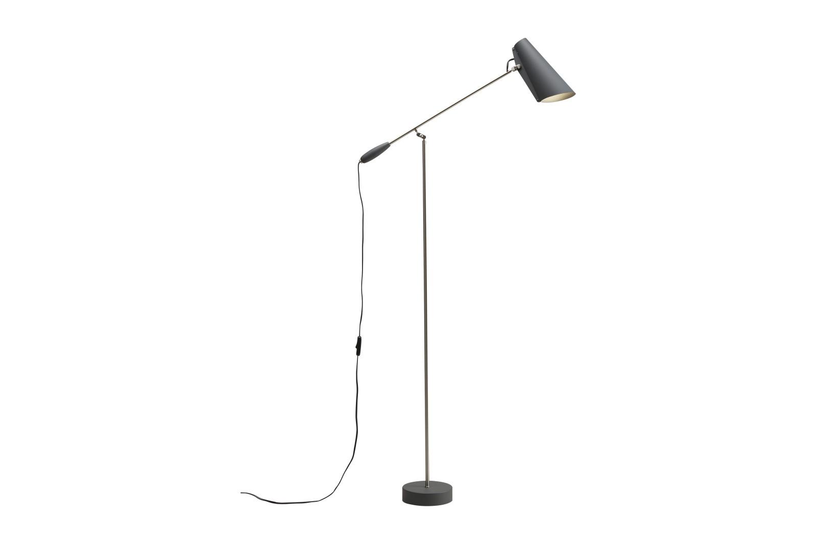 Birdy Floor Lamp Grey/Metallic, Type C Plug
