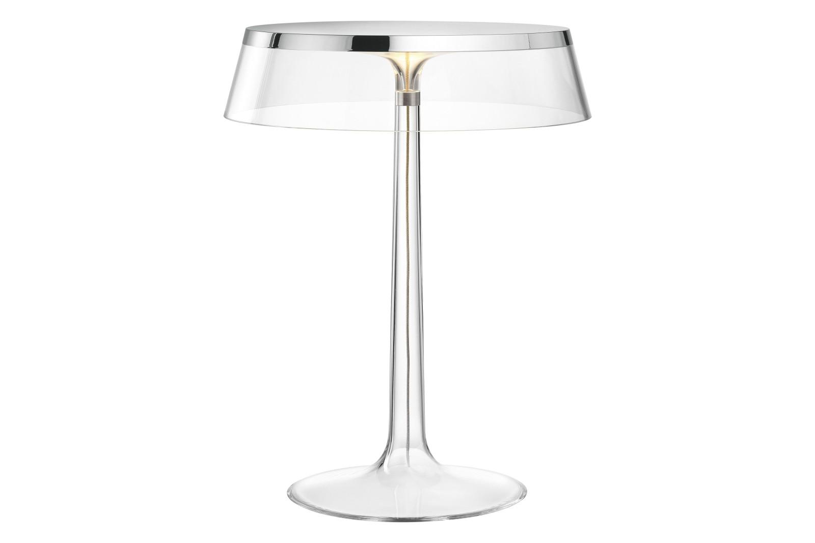 Bon Jour Table Lamp PMMA Transparent, PMMA Chrome