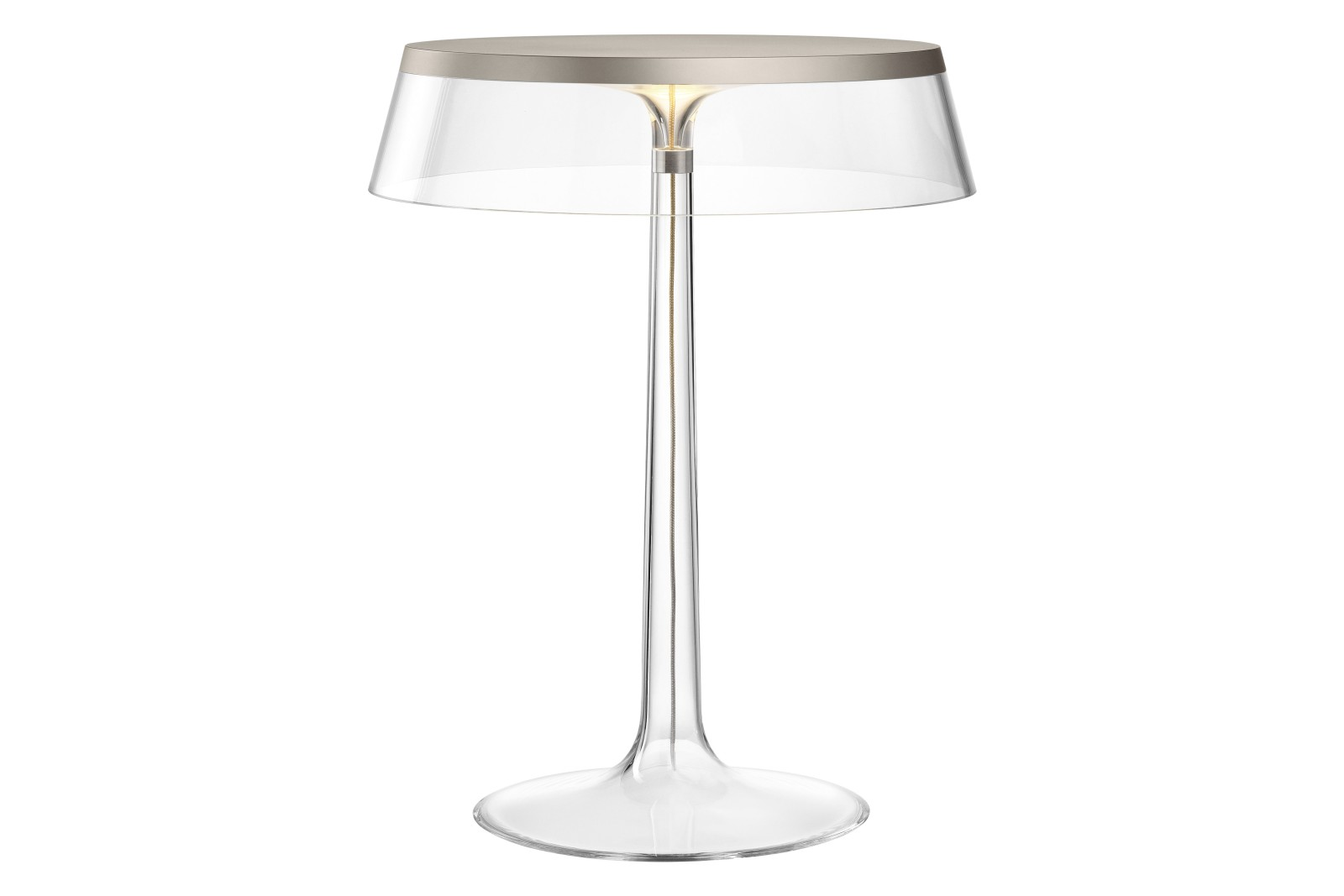 Bon Jour Table Lamp PMMA Transparent, PMMA Matt Chrome