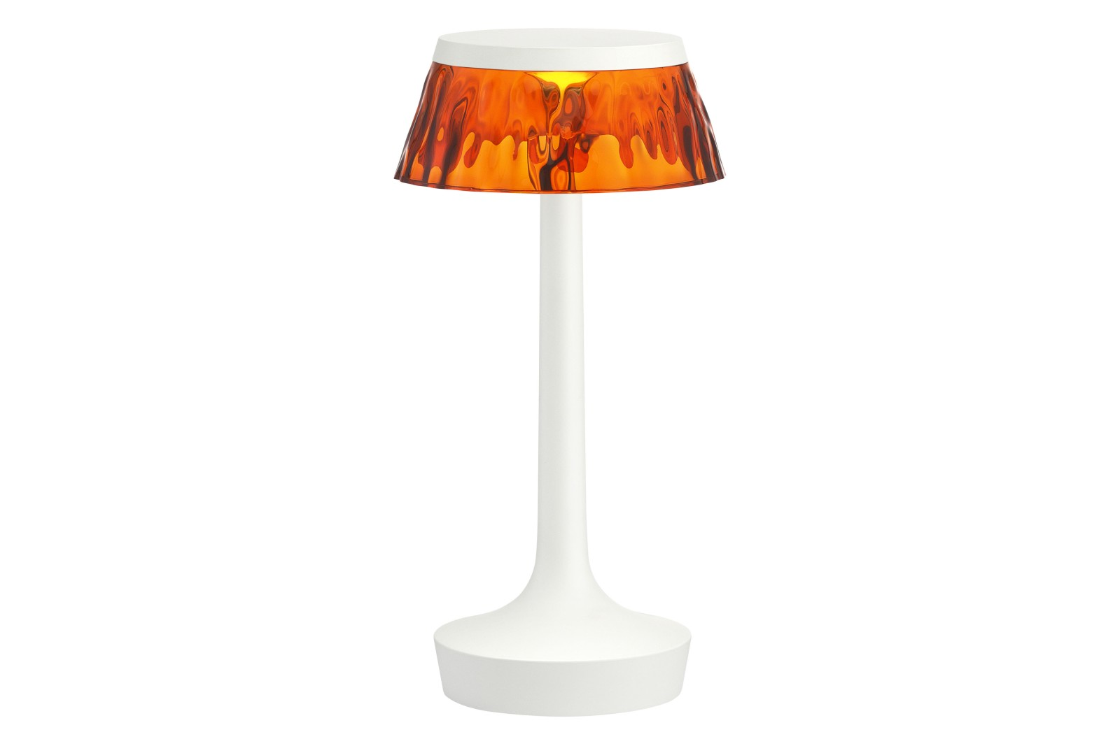 Bon Jour Unplugged Table Lamp PMMA Matt White, PMMA Amber