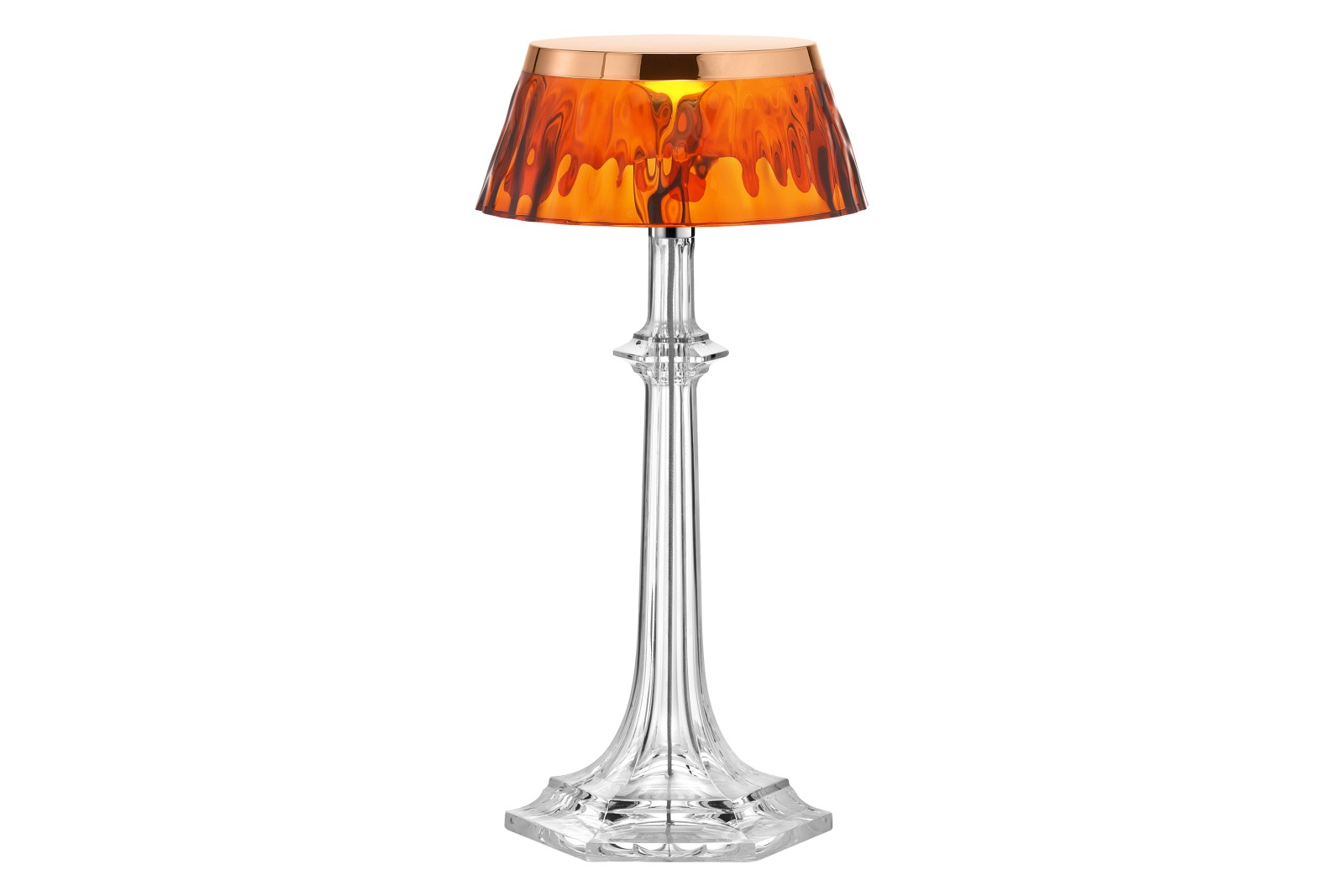 Bon Jour Versailles Small Table Lamp PMMA Polished Copper, PMMA Amber