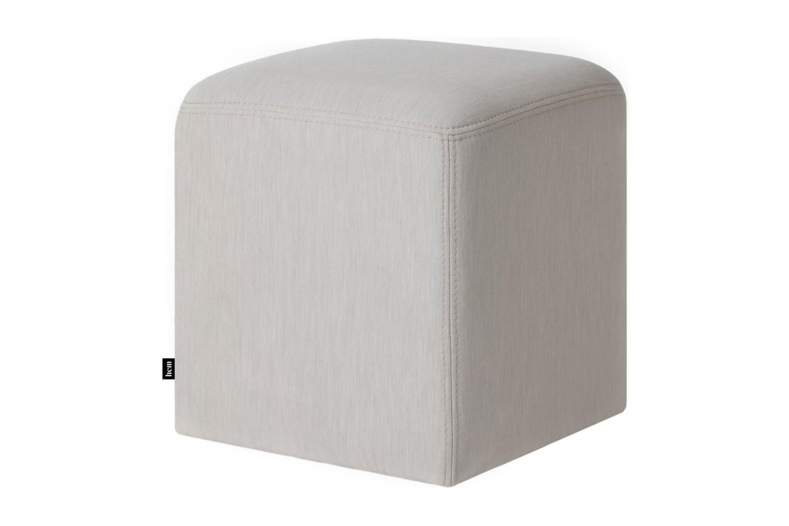 Bon Pouf Cube Uniform Melange Shell