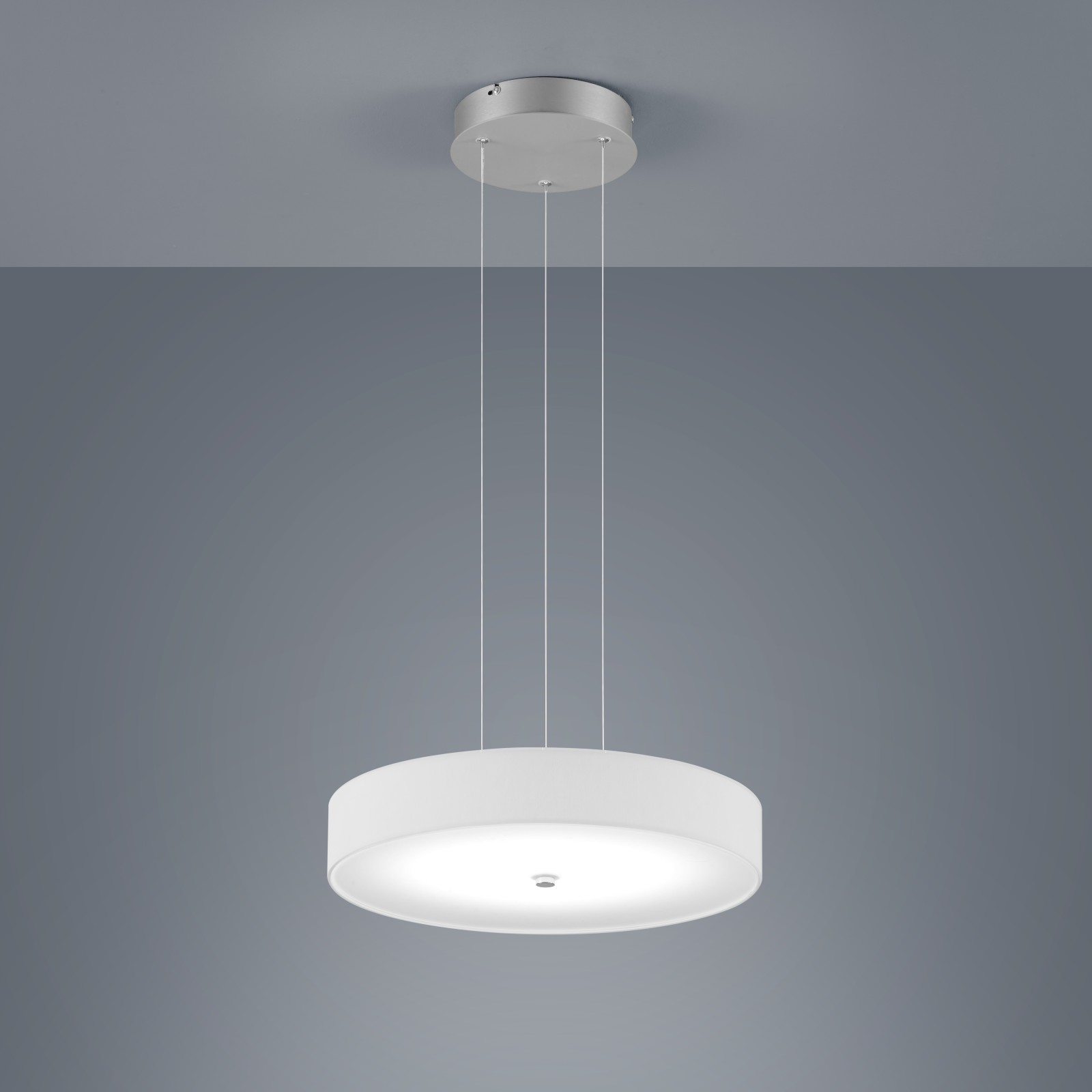 Bora Round Pendant Light White