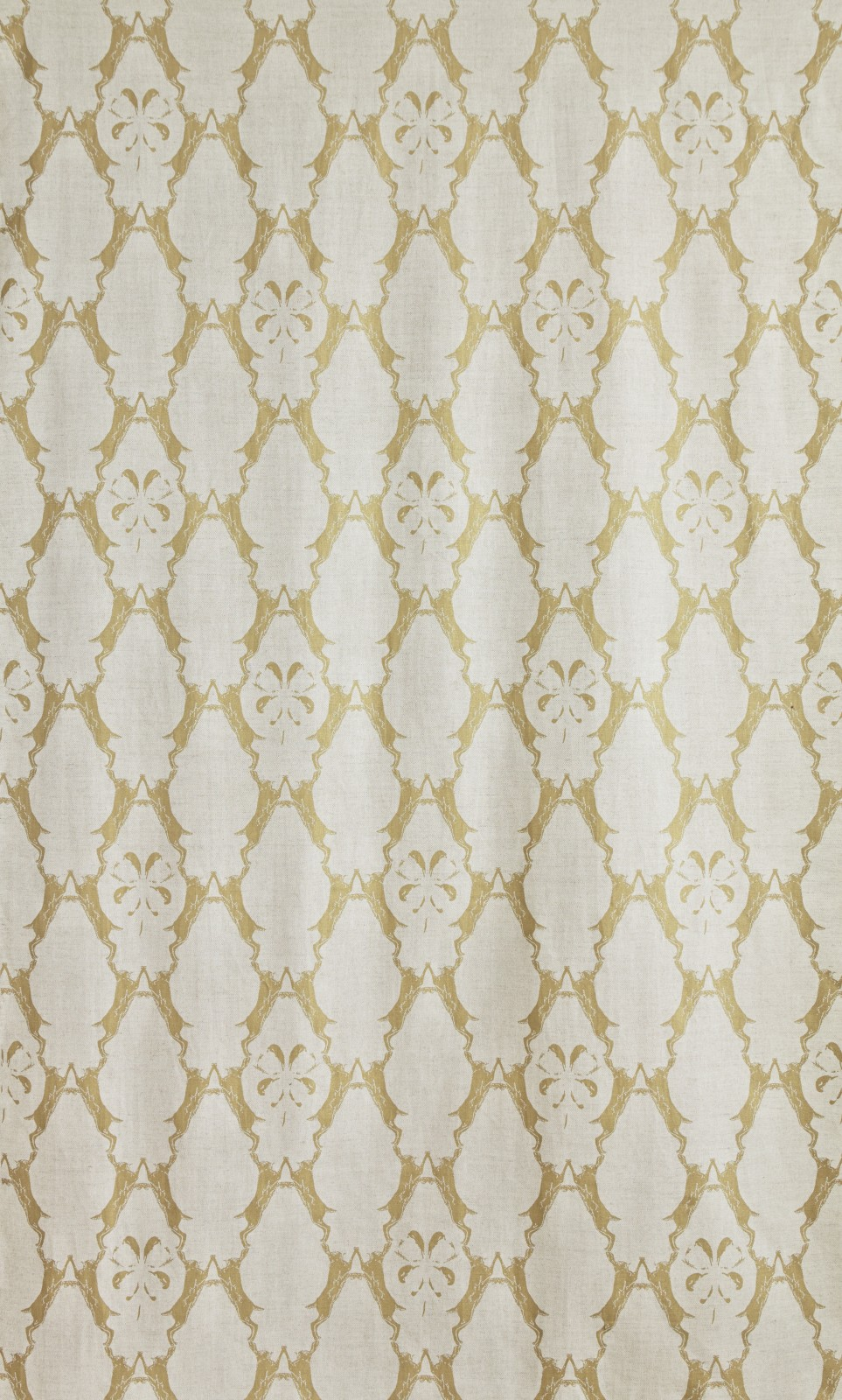 Boxing Hares Fabric Gold
