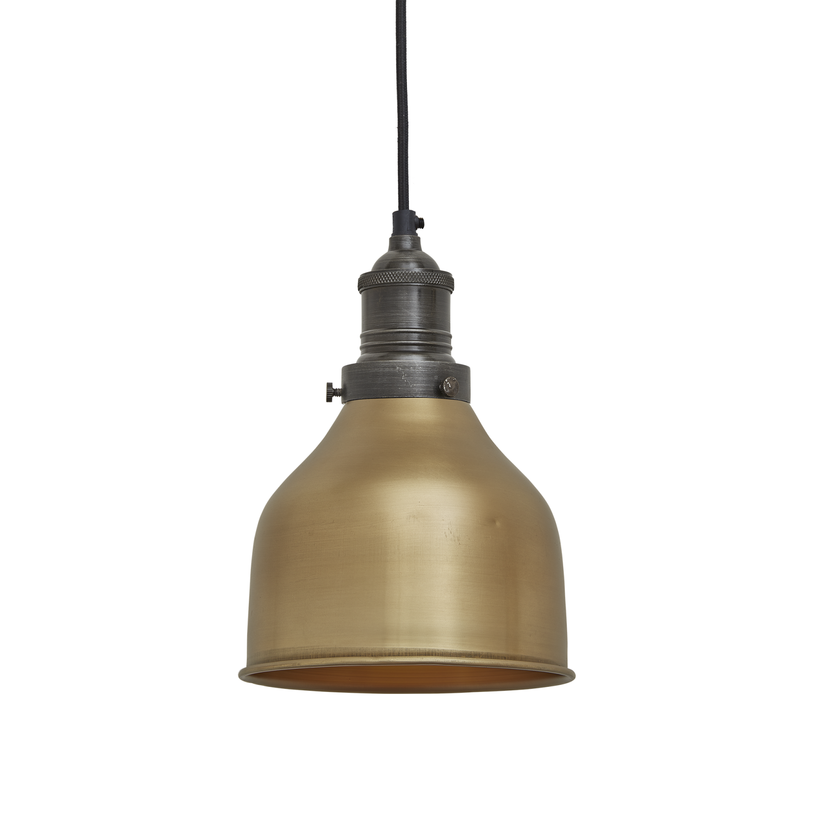 Brooklyn Cone Pendant - 7 Inch Brooklyn Cone Pendant - 7 Inch - Brass - Pewter Holder