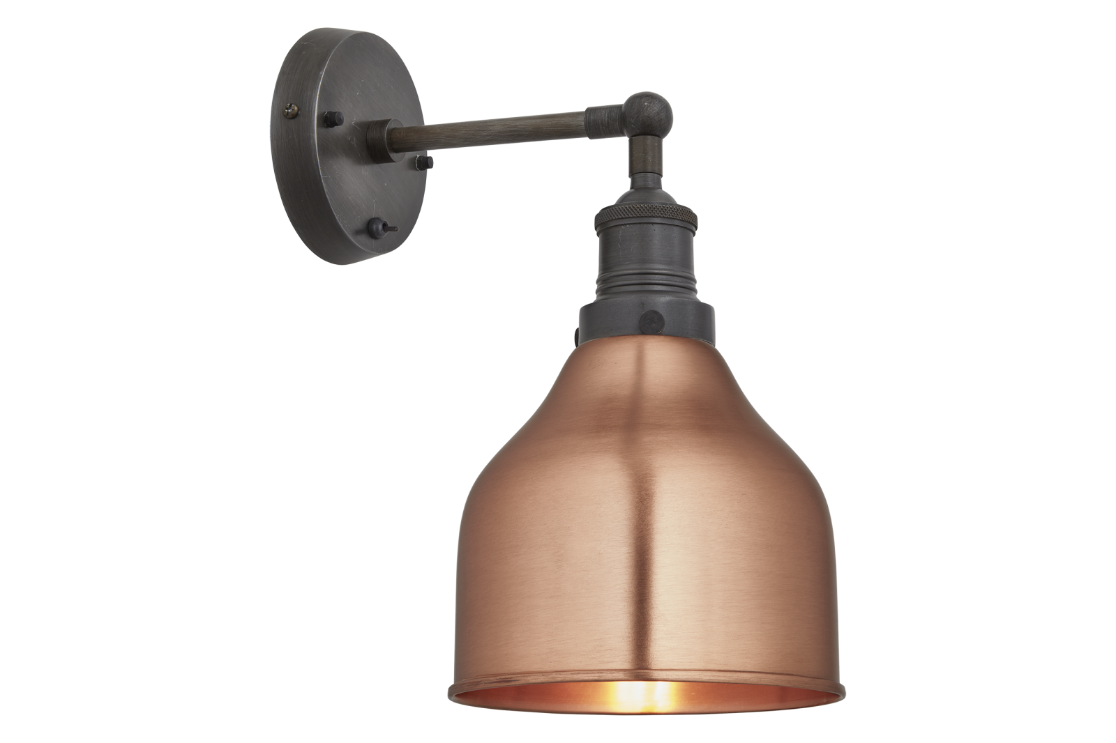 Brooklyn Cone Wall Light - 7 Inch Brooklyn Cone Wall Light - 7 Inch - Copper- Pewter Holder