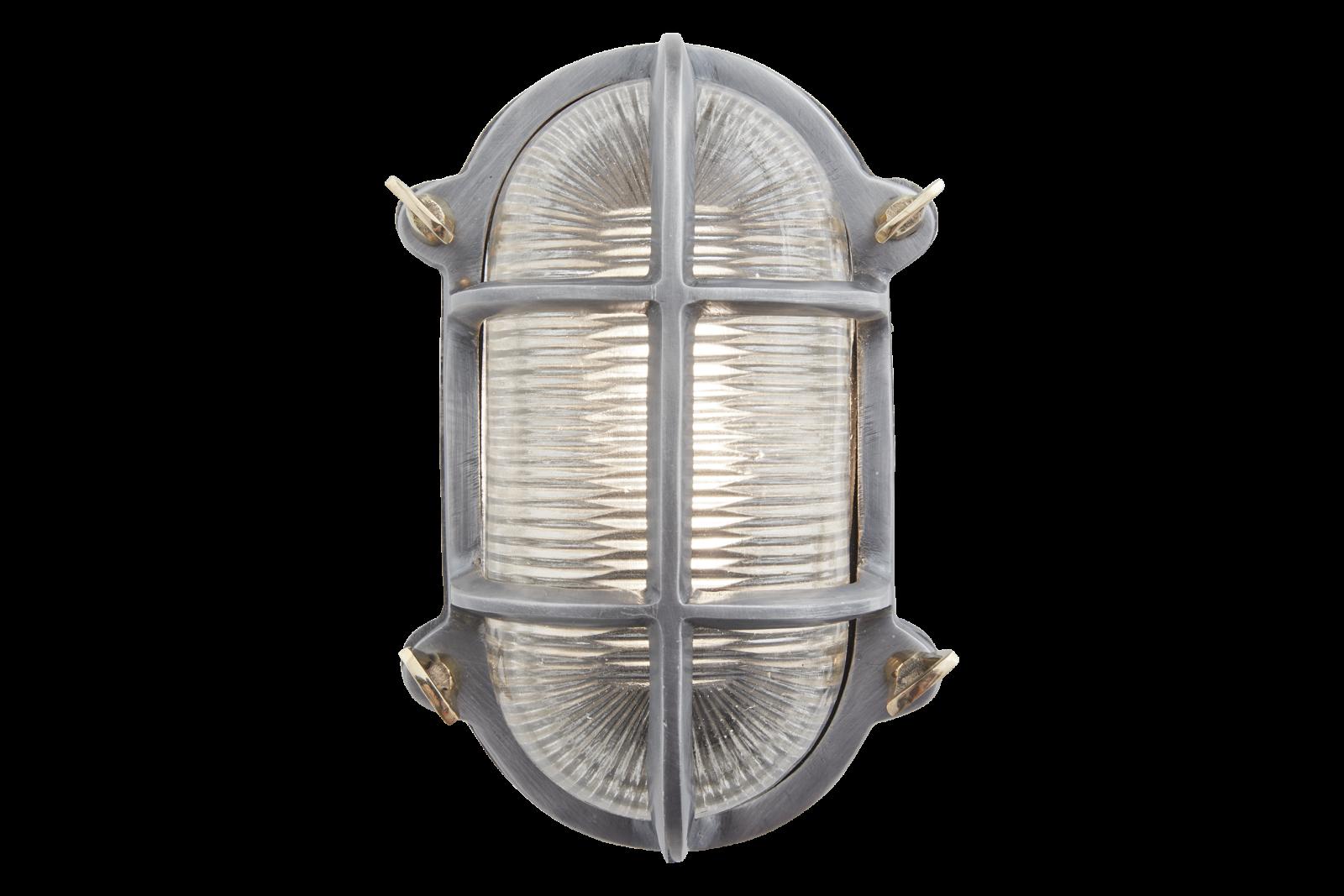 Bulkhead Outdoor & Bathroom Oval Light - 6 Inch - Gunmetal Bulkhead Outdoor & Bathroom Oval Light -