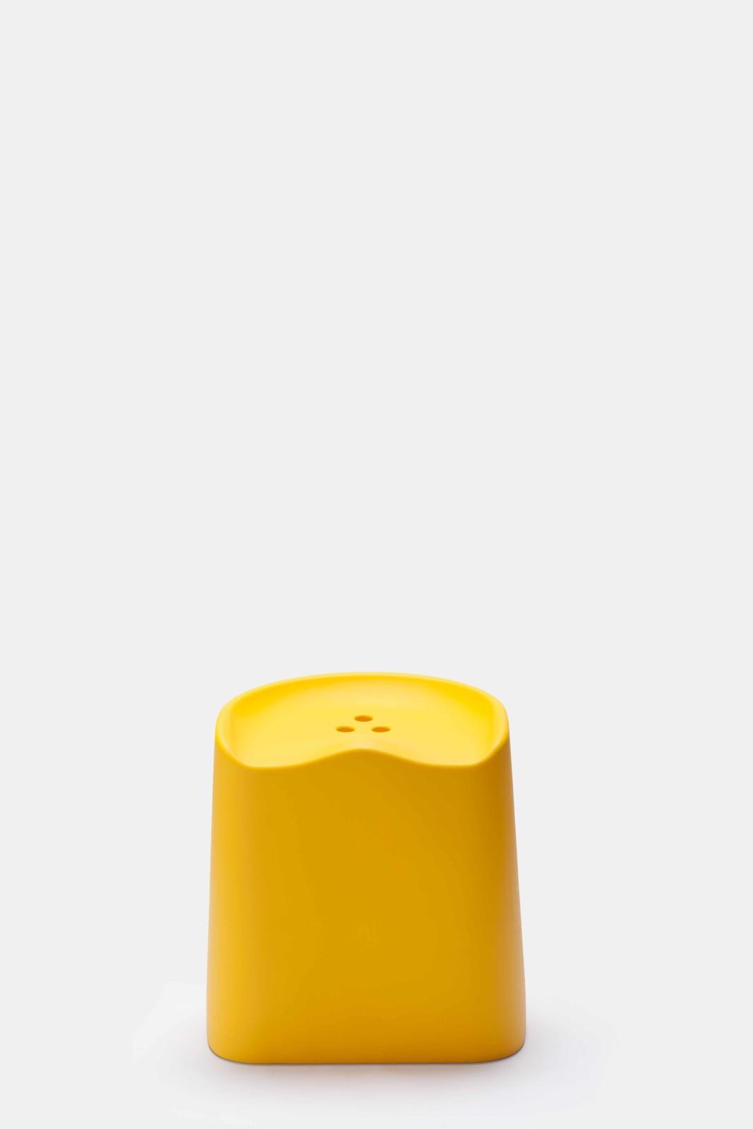 Butt Stackable Stool Yellow