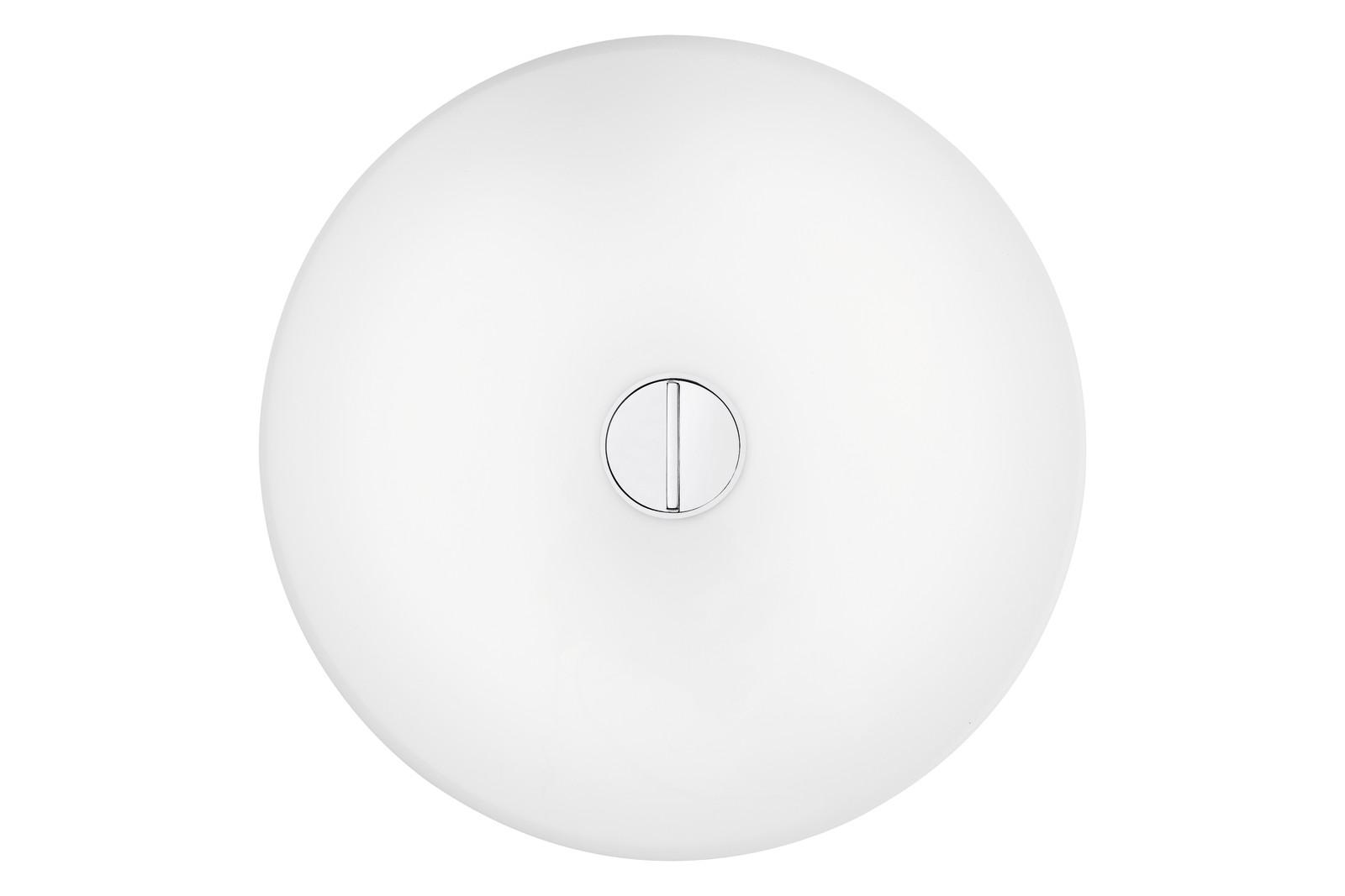 Button Wall Light Opal Polycarbonate