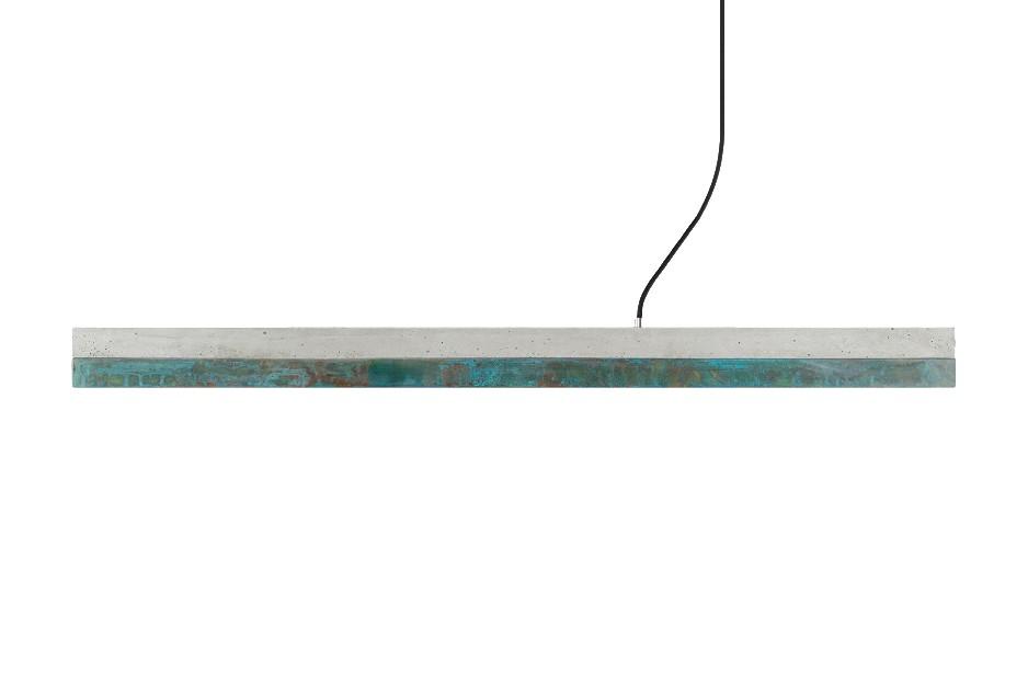 [C] Concrete & Oxidised Copper Pendant Light Light grey concrete - cold white (4000K), [C1] - 122cm