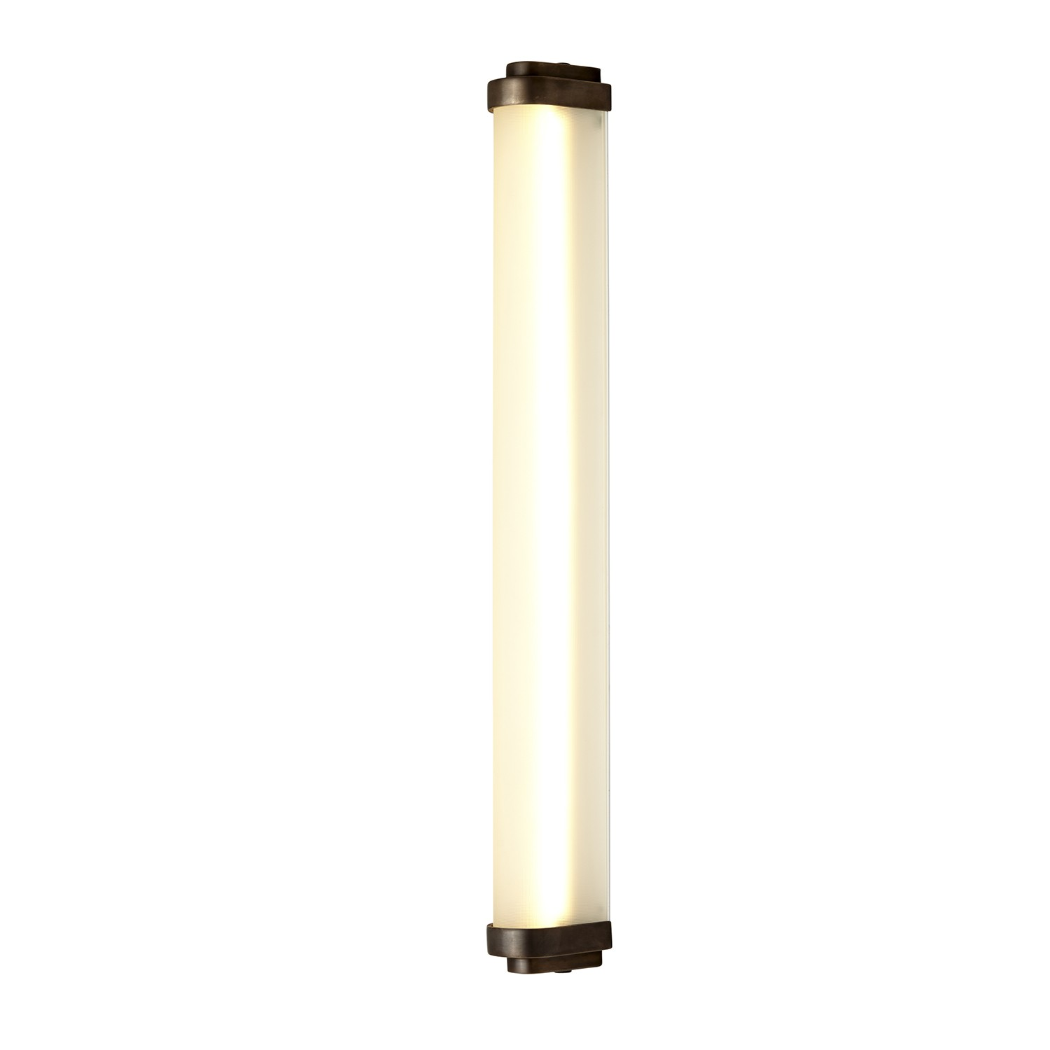 Cabin LED Wall Light Weathered Brass, 60cm