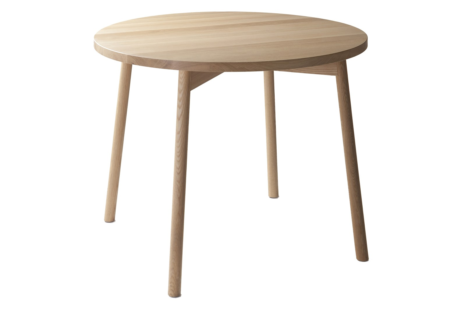 Café Skandi Round Coffee Table Oak Natural Oil, 70 x 45