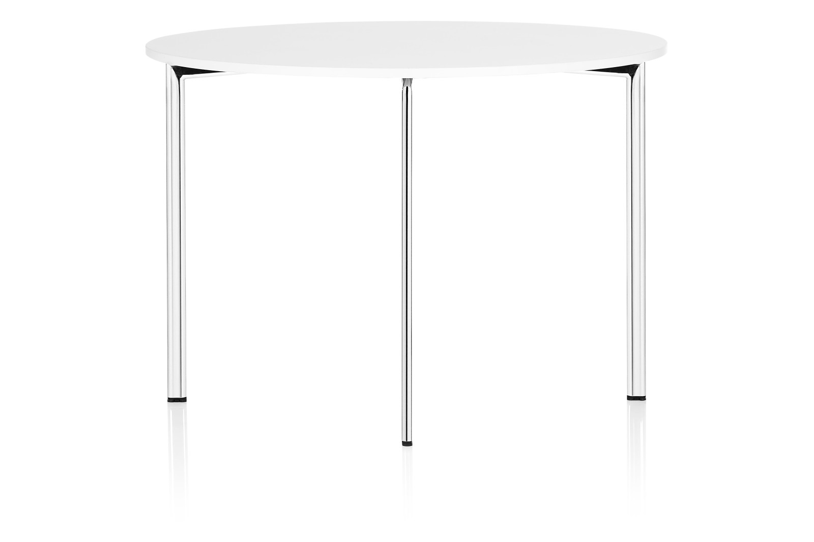 Campus Dining Table Round Chrome, 120cm