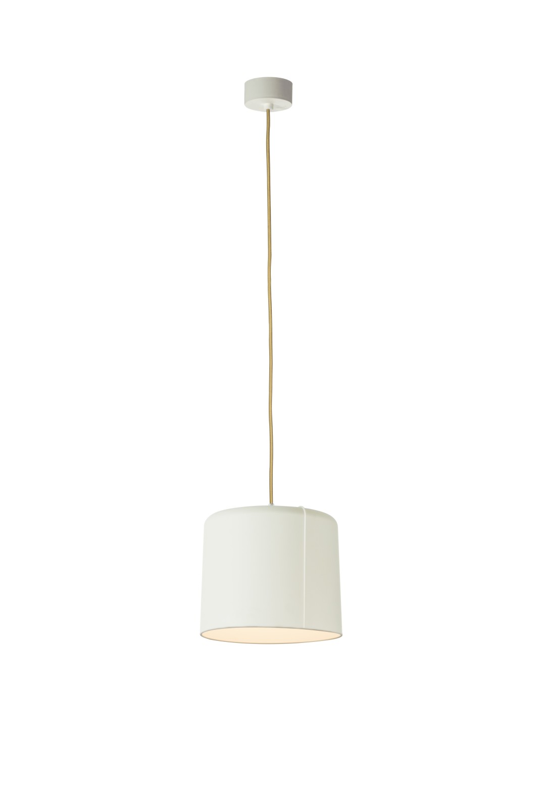 Candle 2 Pendant Light White, Gold