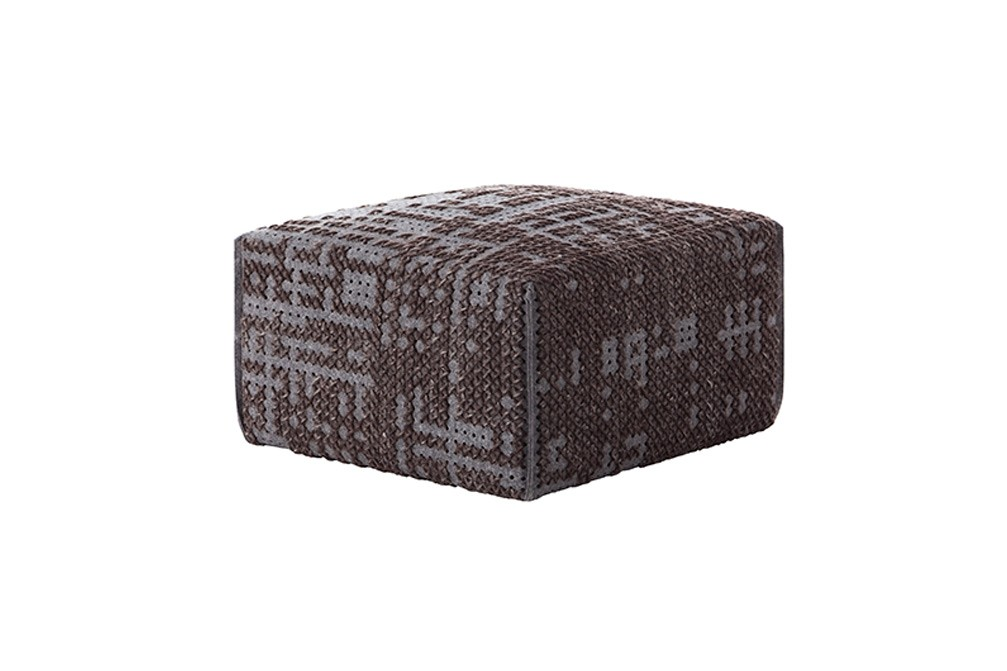 Canevas Square Abstract Ottoman Charcoal