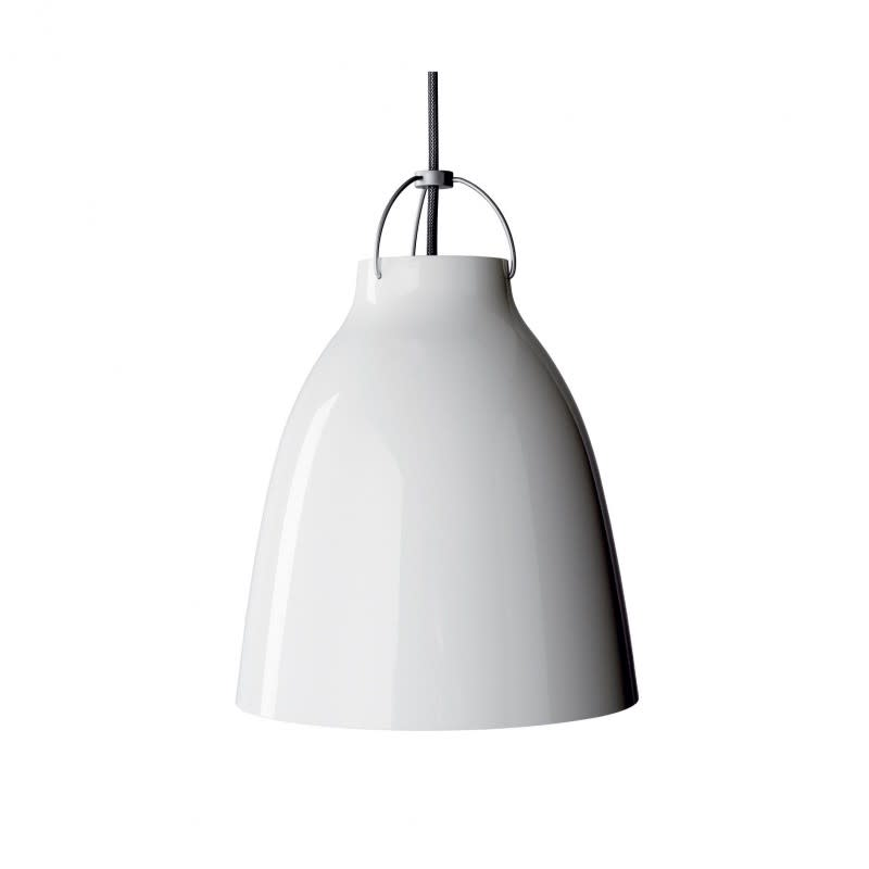Caravaggio Pendant Light White, P0 Small, 3 m cord