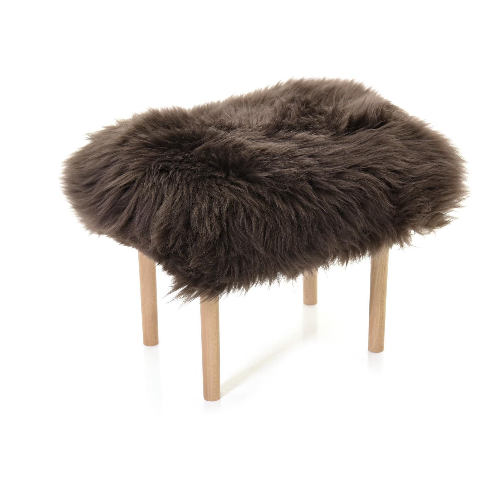 Carys - Sheepskin Footstool Mink