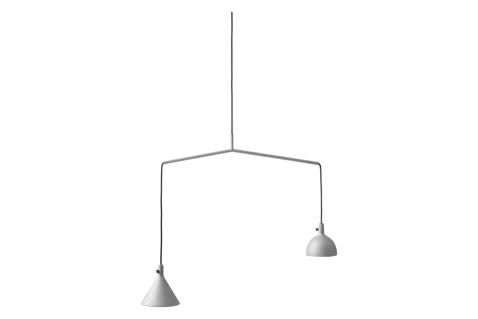 Cast Shape 4 Pendant Light Grey