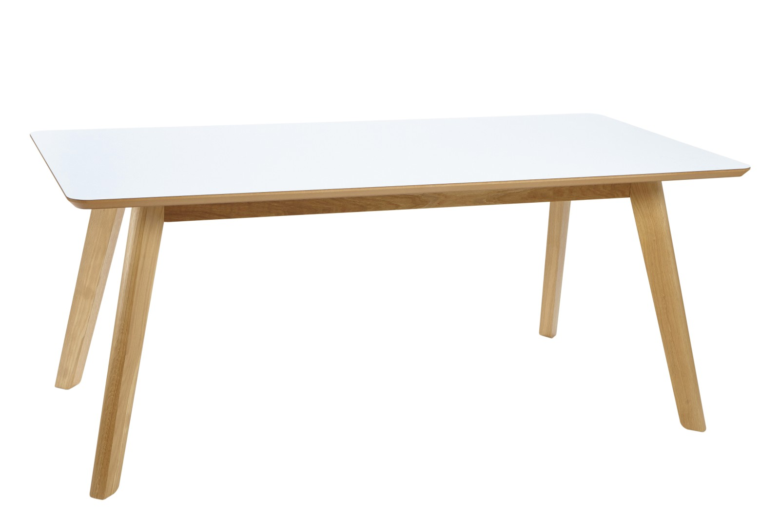 Centro Lite Meeting Table White, Oak, 200w x 100d x 75h cm