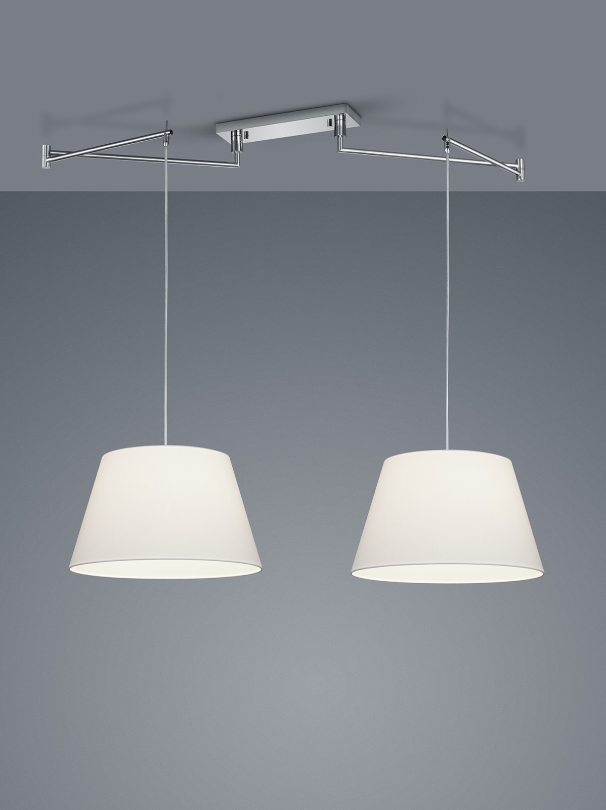 Certo Two-Leaf Conic Pendant Light White