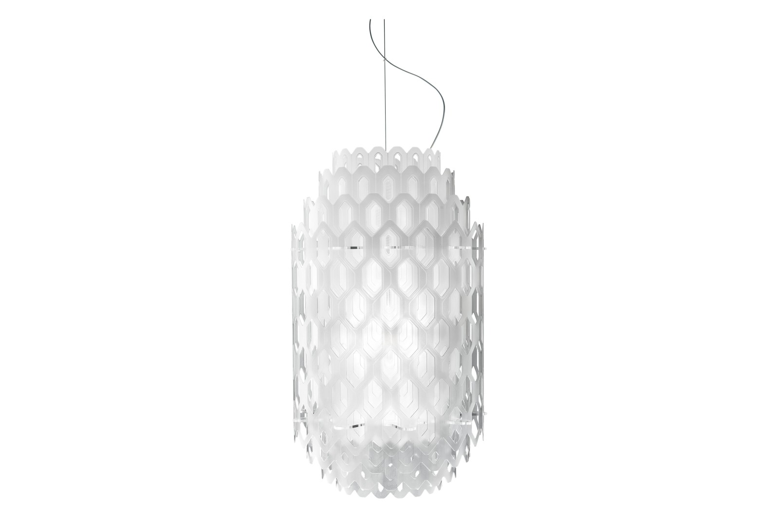 Chantal Pendant Light White, Small