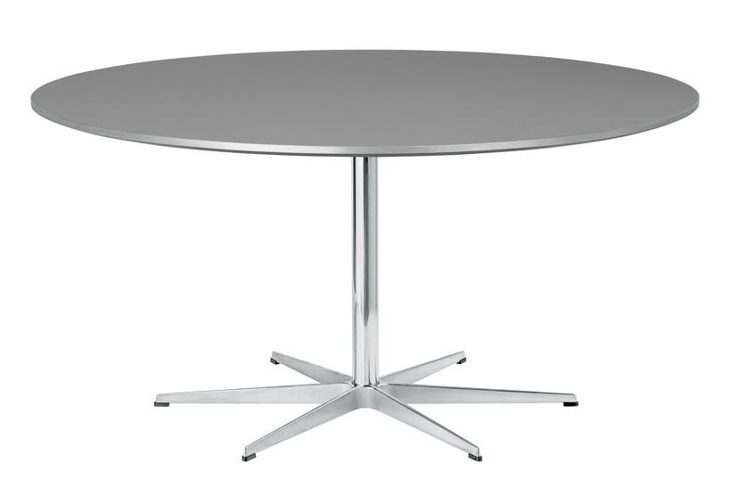 Circular Dining Table - 6 Star Base Laminate Standard Colour Grey