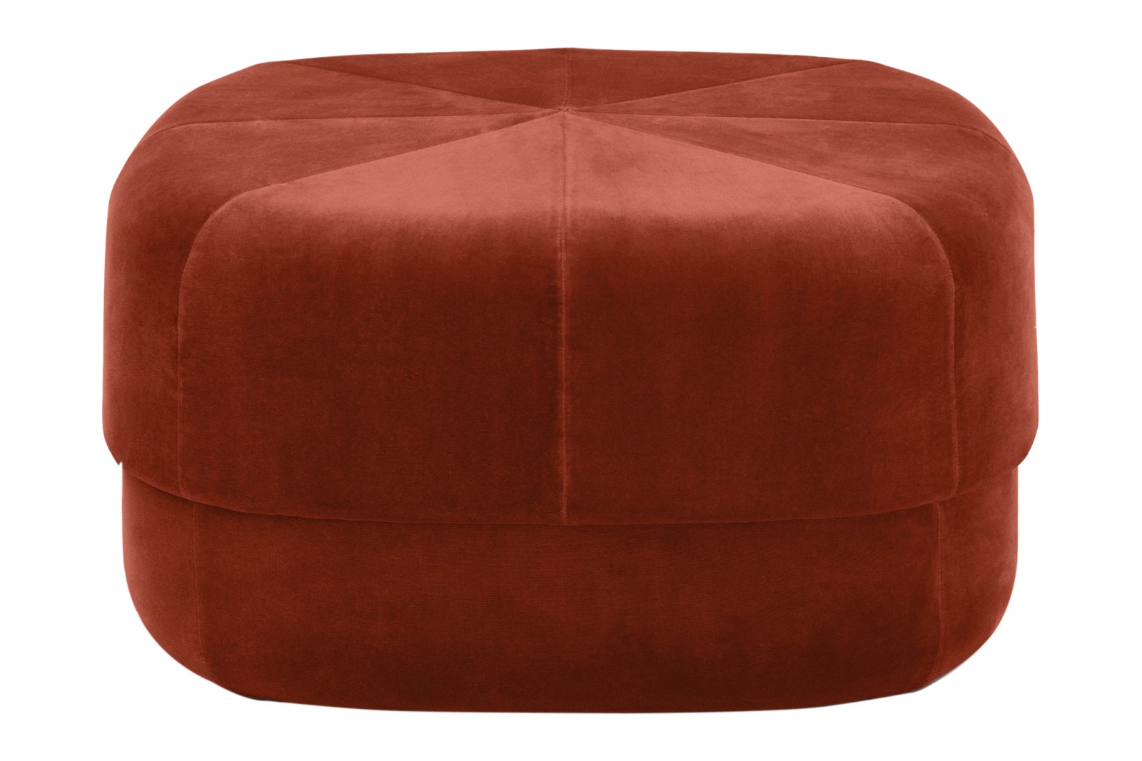 Circus Pouf Velour Rust, Large