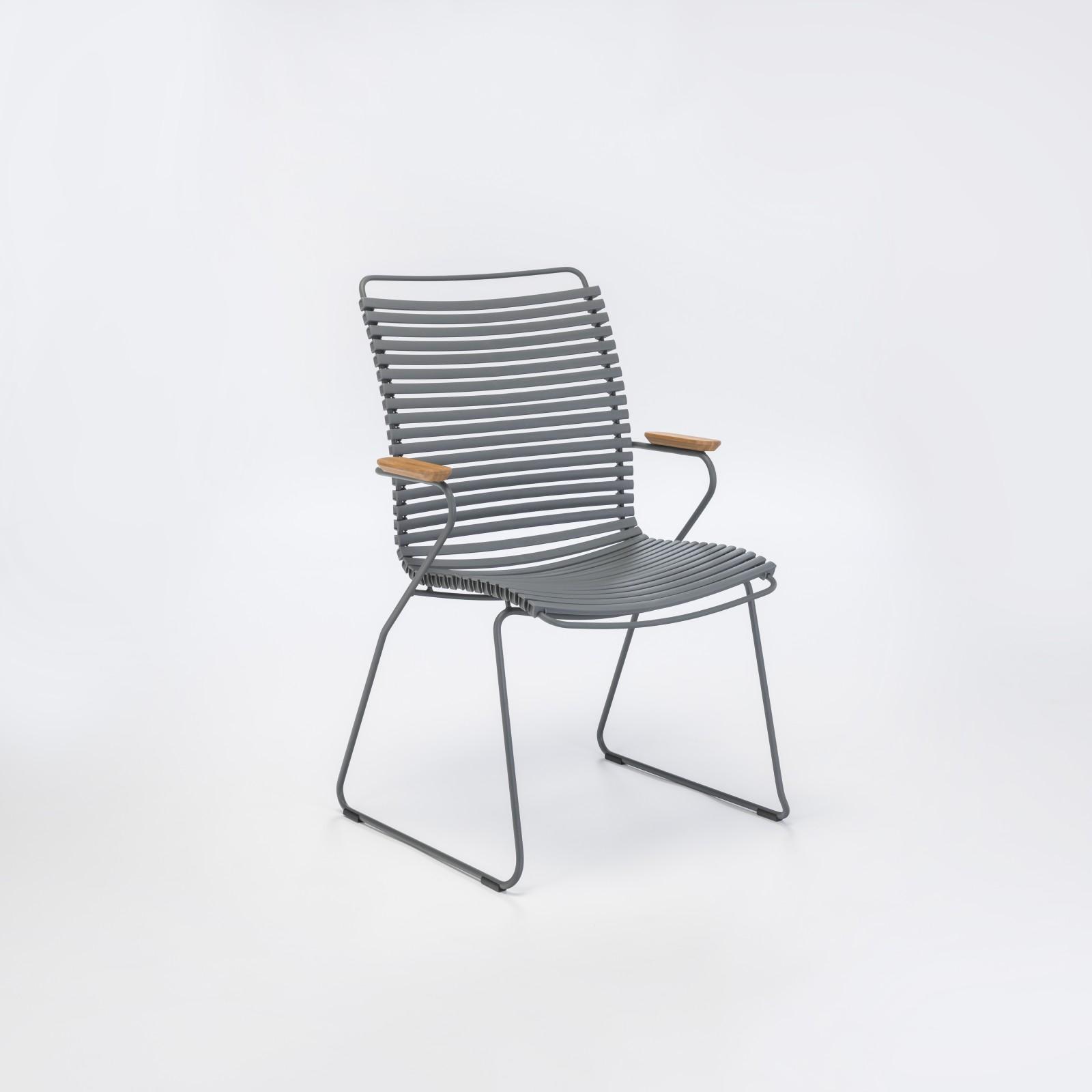 Click Dining Chair Tall Back Dark Grey