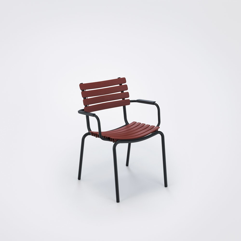 Clips Dining Chair With Armrests Paprika, Aluminium