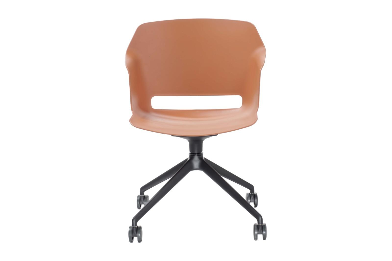 Clop Chair Swivel Base on Castors White, Black