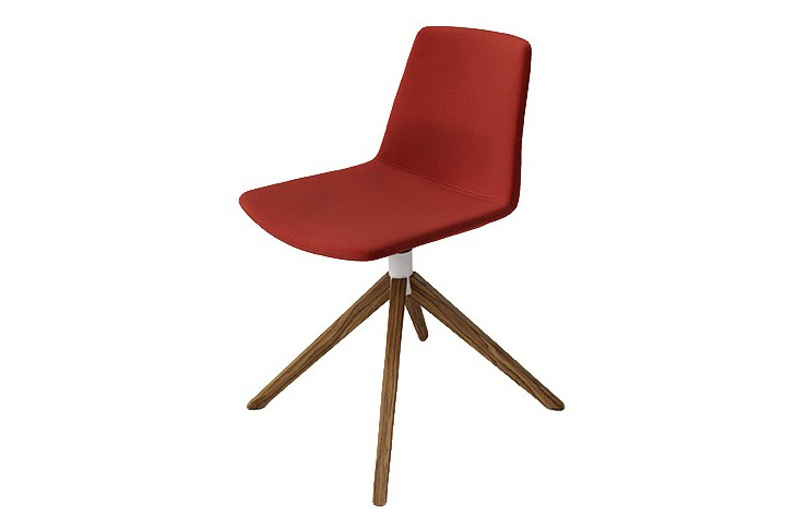 Clue Chair with 4 Legs Metal Base Fully Upholstered Pricegrp. B01, Chrome plated