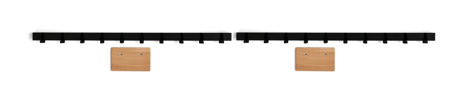 Coatrack by the Meter set 'bedroom' in black