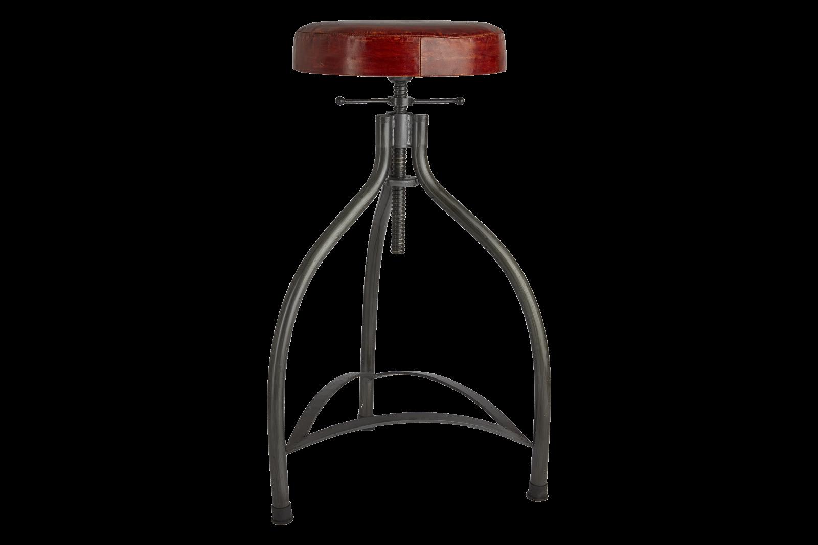 Cooper Bar Stool Cooper Leather & Metal Adjustable Bar Stool - 34 Inch