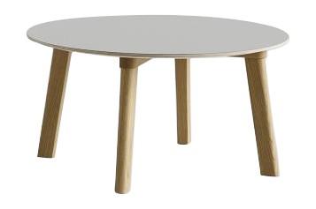 Copenhague Deux (CPH 250) Round Coffee Table Dusty Grey Laminate Top, Matt Lacquered Beech Base