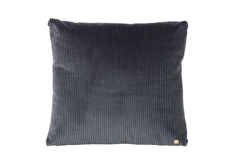 Corduroy Cushion Dark Grey
