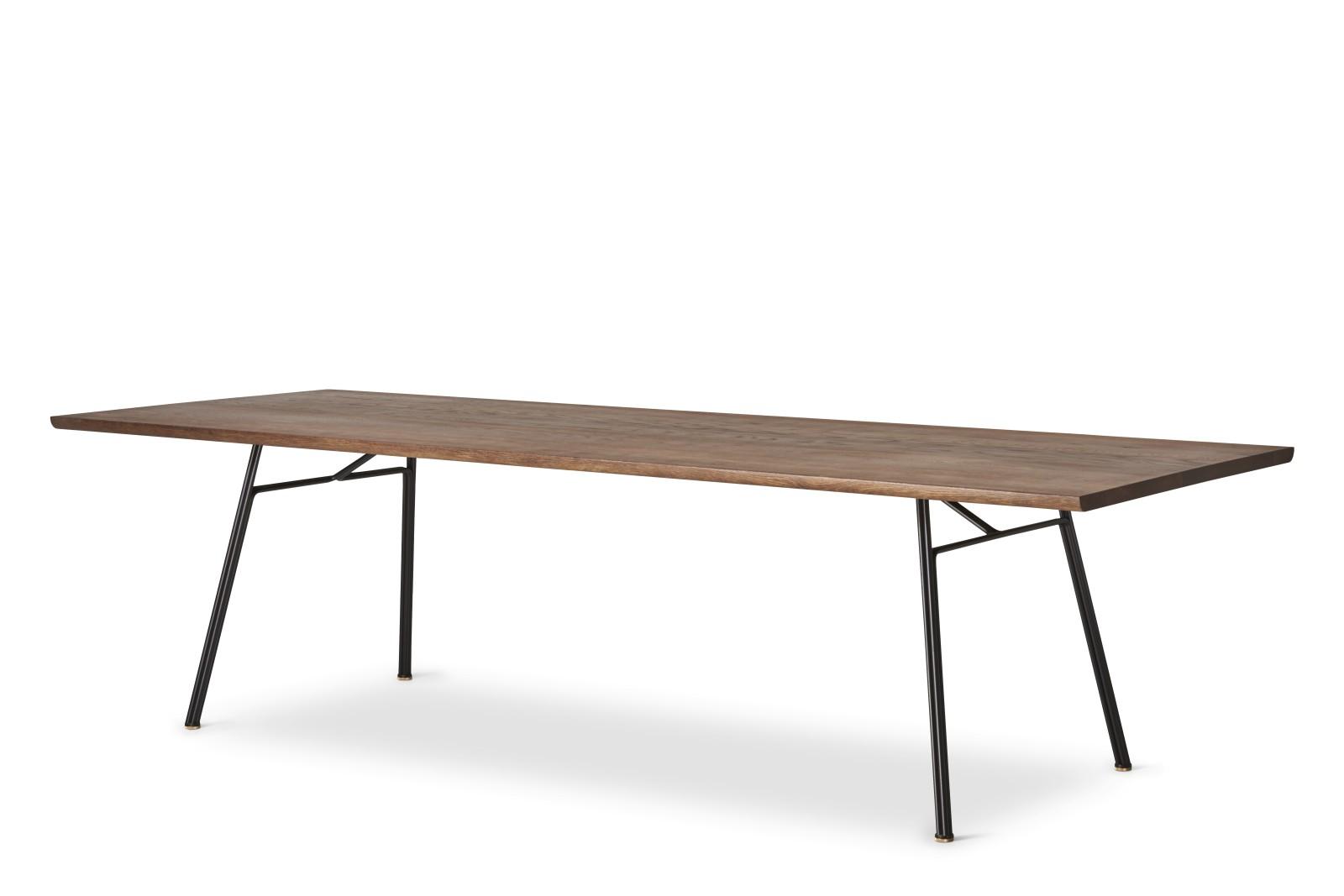 Corduroy Dining Table Rectangular Smoke Oak Oil Treatment, 300cm, 90cm