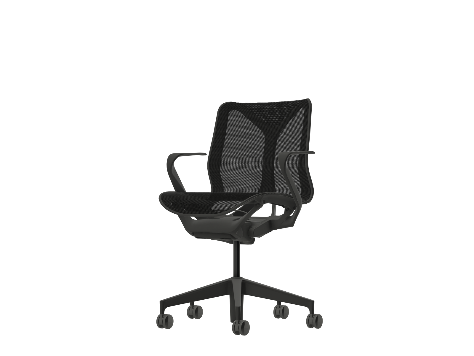 Cosm Low Back Fixed Armrest Graphite