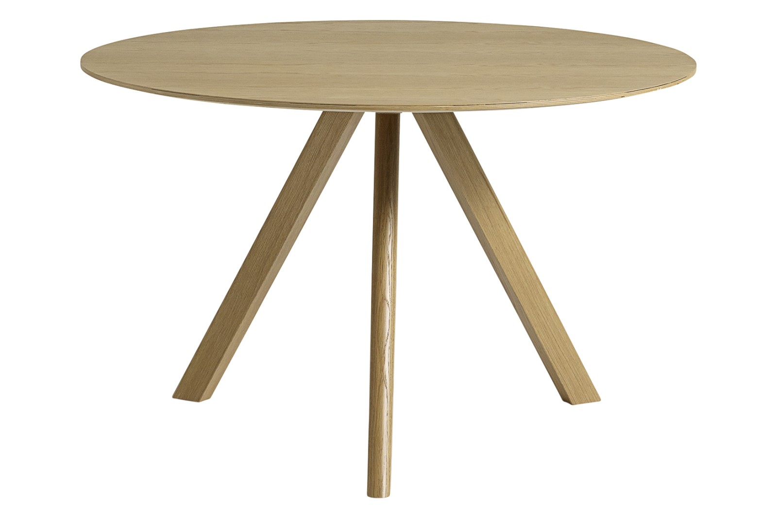CPH 20 Round Dining Table Wood Clear Oak, 120cm