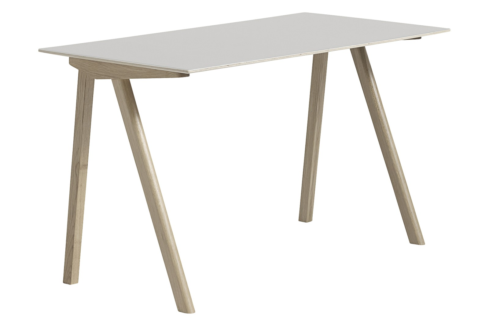 CPH 90 Desk Linoleum Off White / Wood Soaped Oak