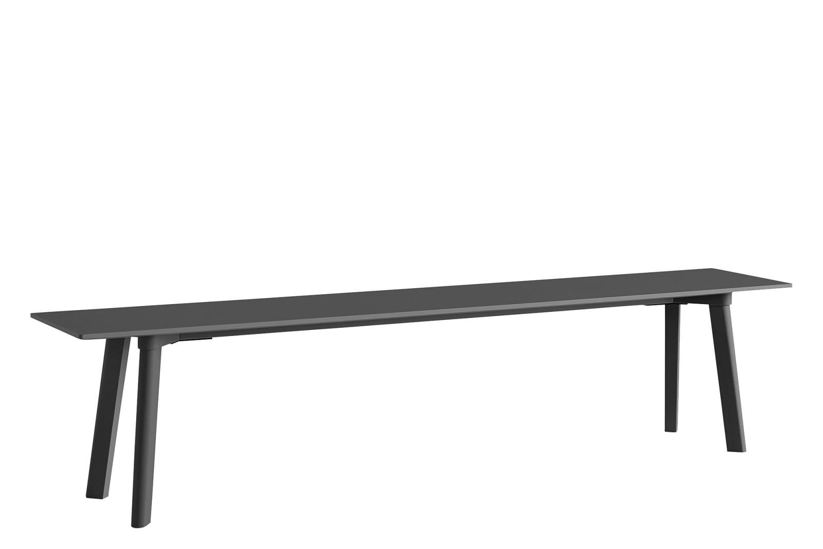 CPH Deux 215 Bench Laminate Stone Grey / Wood Stone Grey Beech, 200 x 35cm