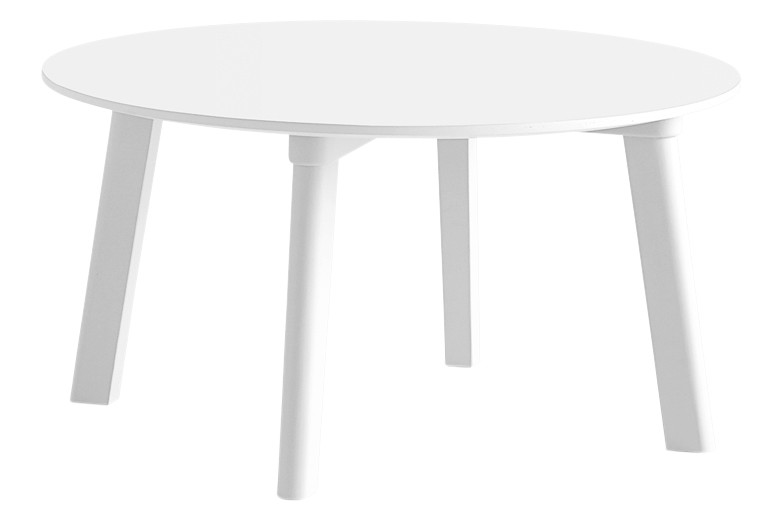 CPH Deux 250 Round Coffee Table Laminate Pearl White / Wood Pearl White Beech