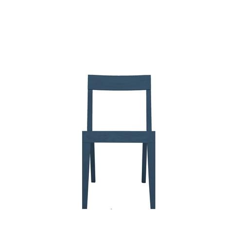 Cubo Chair With Wood Seat Petrol Blue, Oak