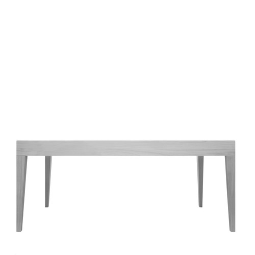 Cubo Rectangular Table Without Drawer Oak, Light Grey